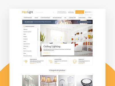 Hotlight Website Shop lamps accessories lighting ui ux website ecommerce shop