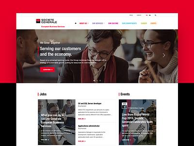 Societe Generale European Business Services  business corporate ux web ui website