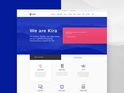 Kira theme theme wordpress ux ui website