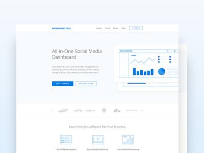 Social Industries  analytics social ux ui website