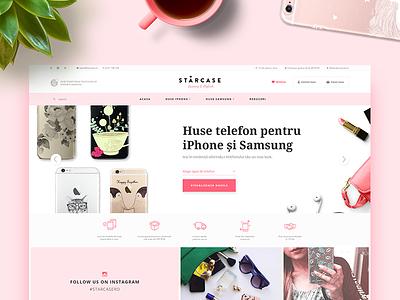 Starcase pink girly web case smartphone samsung iphone shop website