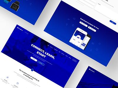Incubator business startup website responsive design web wordpress theme