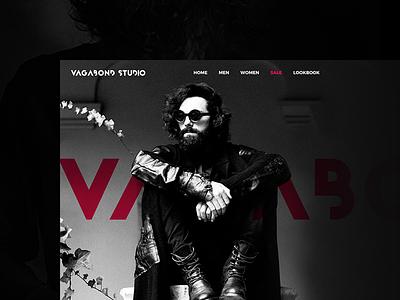 Vagabond Studio fashion dark black store clothing shop website