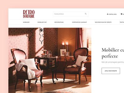 Retroboutique Shop retro decor home vintage webdesign shop