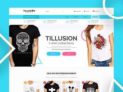 Tillusion Shop website t-shirt shop
