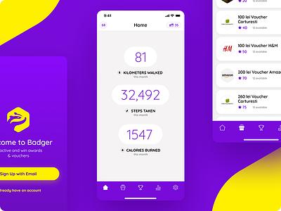 Badger App ux ui app health fitness