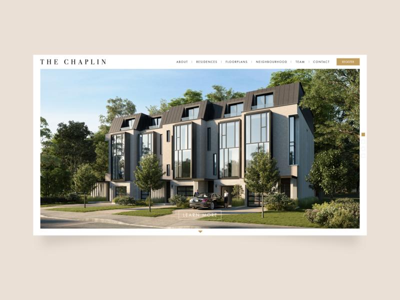The Chaplin website ui ux website design websitedesigner web design