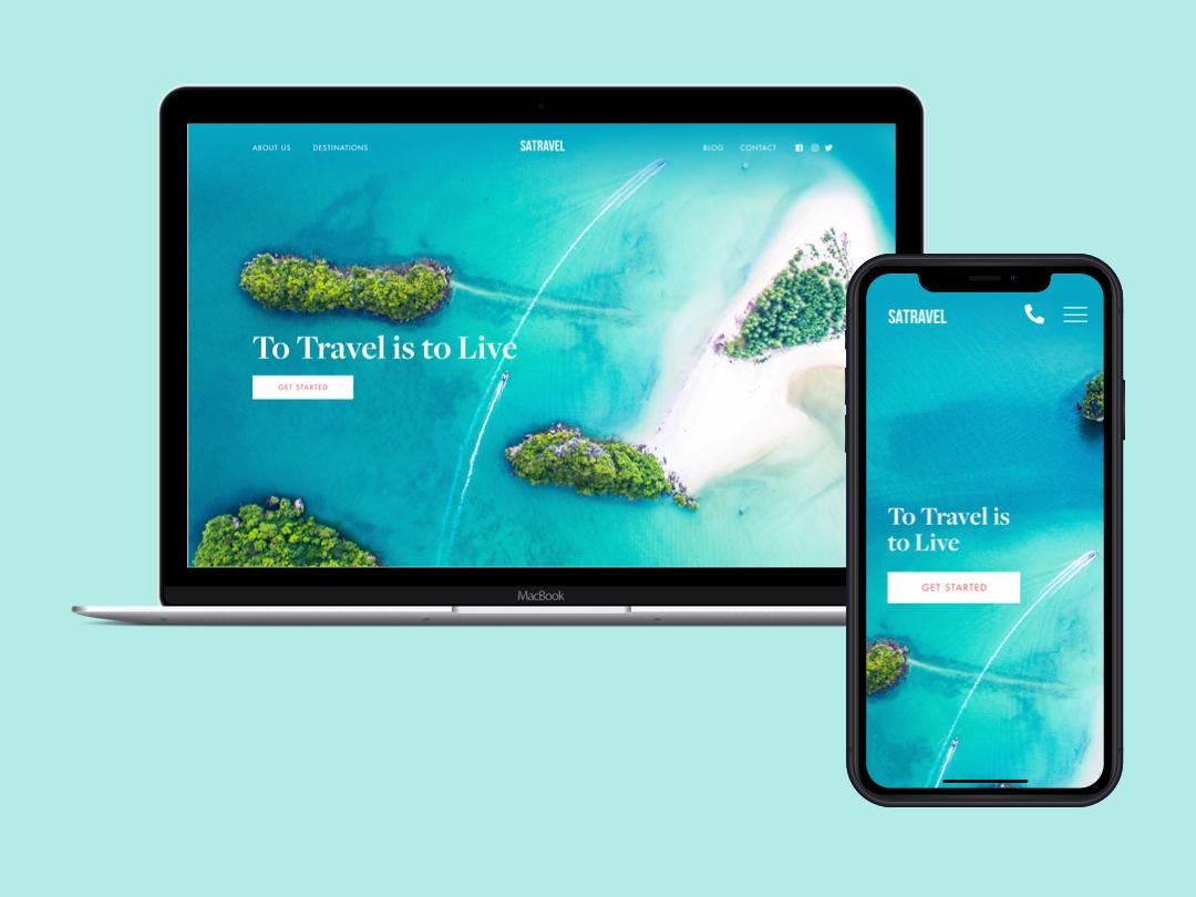Travel Site websitedesigner website design web website design ux ui