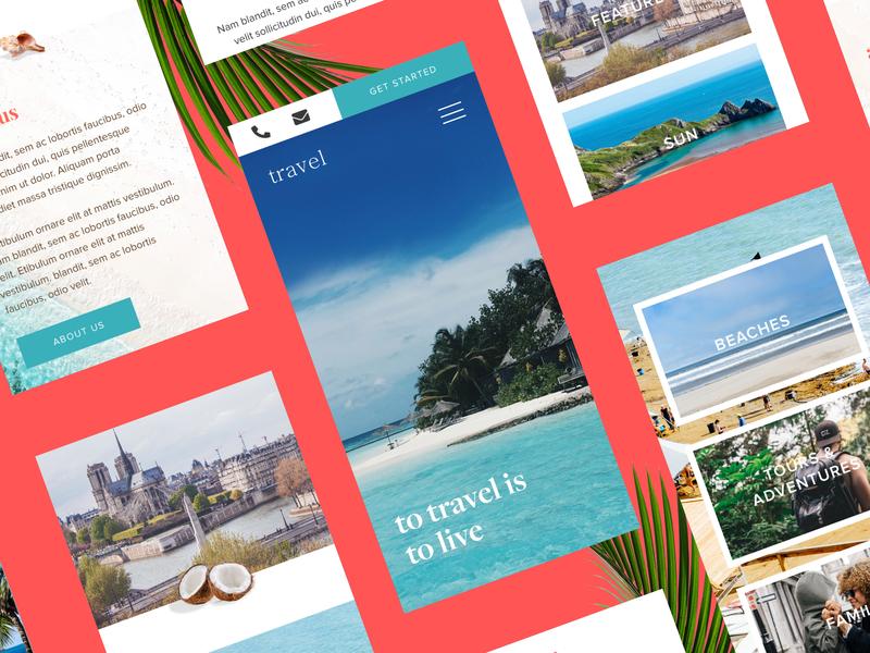 Travel Site typography travel website travelling travel destinations websitedesigner website design website web ux ui design