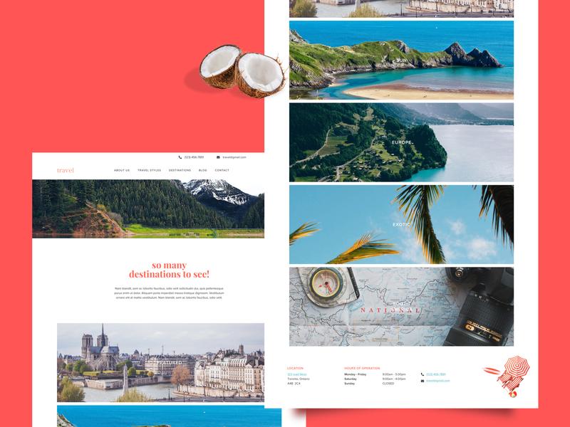 Travel Site type typography travel website travelling travel destinations websitedesigner website design website web ux ui design