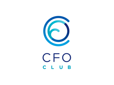 CFO Club - American Express finance event networking circle shade business rounded identity blue club logo club cfo credit card american express icon branding vector logo graphic design