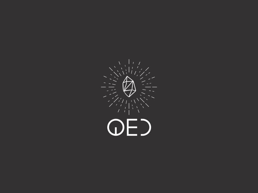 Logofolio   QED jewel gem black  white stone shiny typo font diamond jewelery logo a day brand identity brand icon branding vector logo minimal illustration graphic design