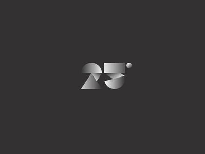 Logofolio | 25° sphere circle shade typography art icon brand identity brand anniversary 25° 25 logofolio logo typo typography vector branding minimal illustration design graphic