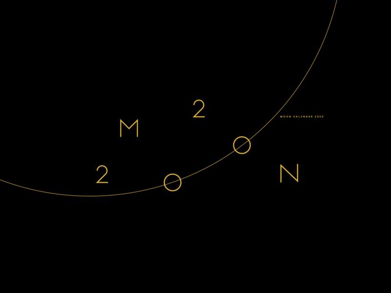 MOON 2020 | Calendar sun planet orbits esoteric moon calendar moon phases calendar space nasa eclipse moon vector logo gold black minimal poster illustration graphic design