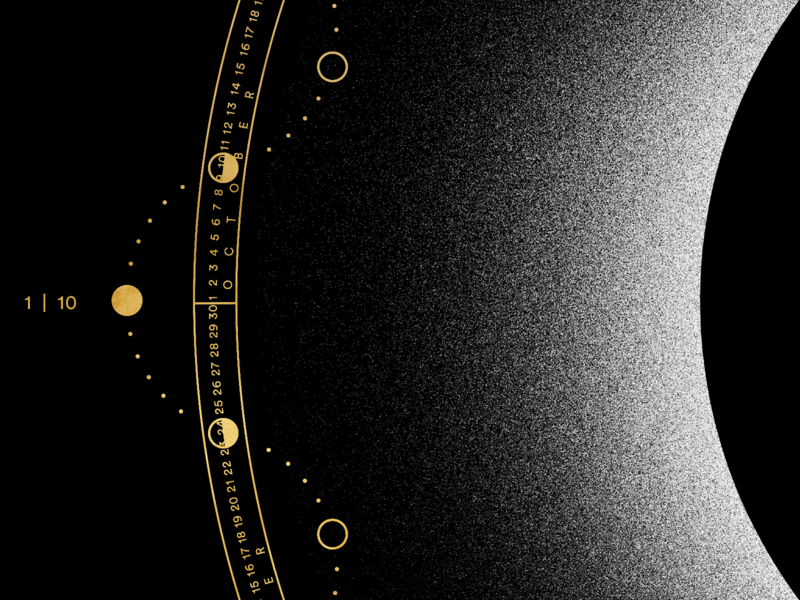 MOON 2020 | Calendar esoteric gold nasa star eclipse space sun moon calendar lunar isometric texture vector black logo minimal poster illustration graphic design
