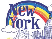 New York  illustration new york concept
