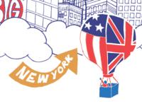 New York II illustration new york concept