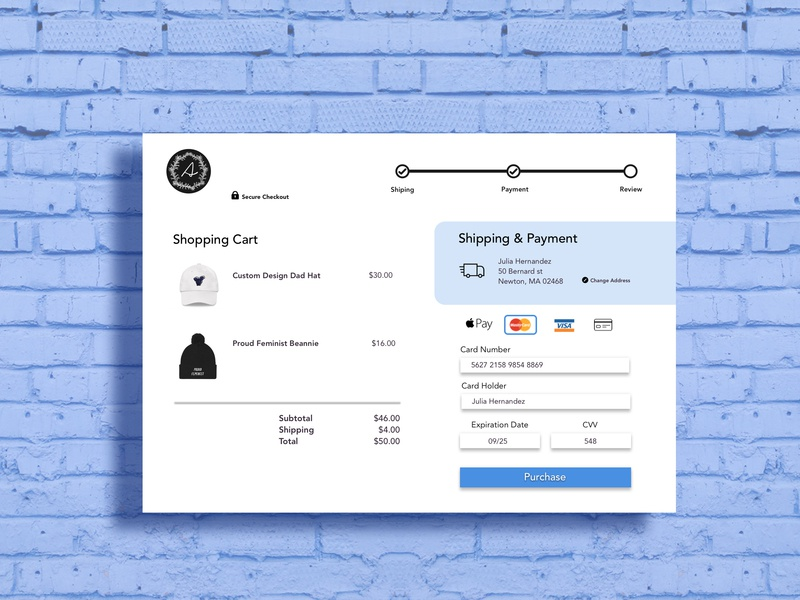 UI Daily Challenge #002- Credit card check up design uidesign uidailychallenge ui uid dailyuichallenge002 dailyui