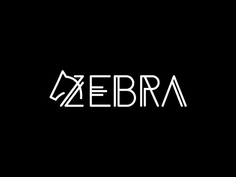 Zebra logo zebra black white logo head type