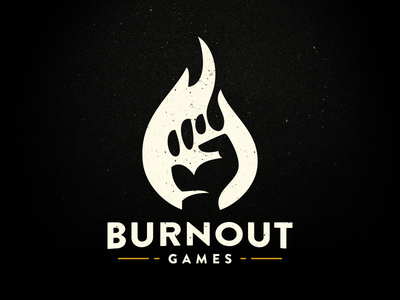 Burnout Games burnout games black flame fire hand yellow