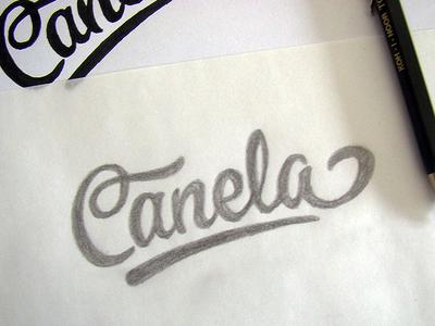 Canela logo sketch