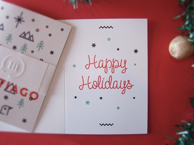 Holidays card lettering