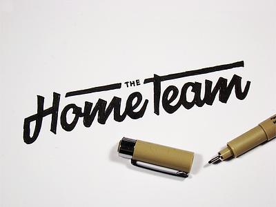 Early Sketches wordmark sketch logotype handwritten lettering hometeam logo
