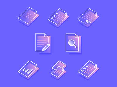 Icon Set iconography vector icon gradient flat line icons isometric