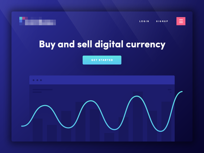 Landing Page (Wip) graphic dark blue homepage landing page coin bitcoin currency digital