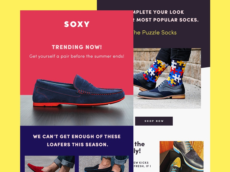 Soxy Newsletter - Trending September portugal blue newsletter shoes purple colorful socks loafers soxy yellow red