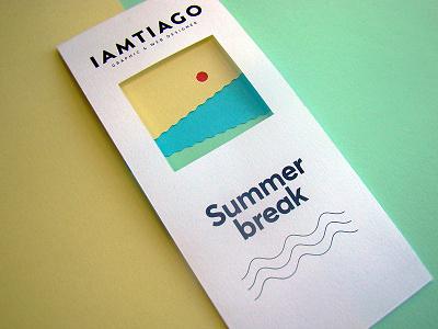 Summer Break - Postcard postcard iamtiago beach sunny print red blue green yellow vacations break summer