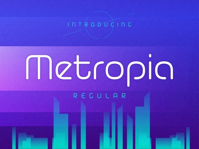 Metropia Typeface futuristic modern geometric portugal regular typeface font