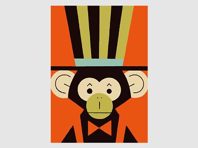 Circus (Monkey) monkey circus animals illustration