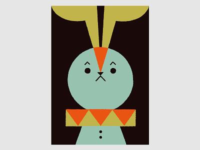 Circus (Rabbit) rabbit circus animals illustration
