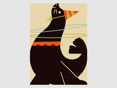 Circus (Sea Lion) sealion illustration circus animals