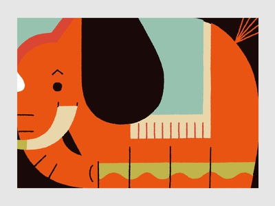 Circus (Elephant) elephant illustration circus animals