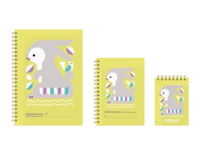 NORDIC COLOR ANIMALS NOTE BOOK rabbit note stationery animals illustration