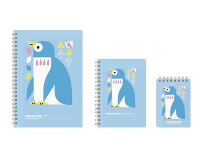 NORDIC COLOR ANIMALS NOTE BOOK penguin note stationery animals illustration