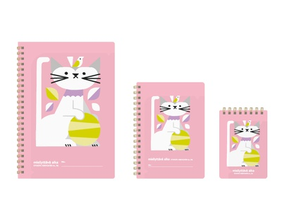 NORDIC COLOR ANIMALS NOTE BOOK cat note stationery animals illustration