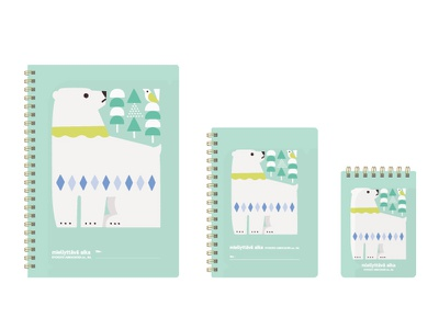 NORDIC COLOR ANIMALS NOTE BOOK bear note stationery animals illustration