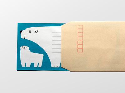 Letter paper polorbear letterpaper animals illustration