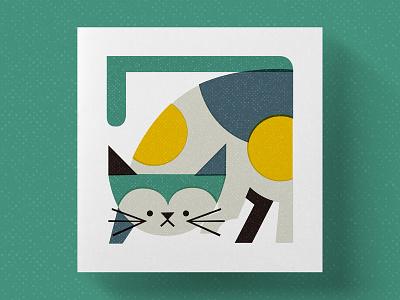 cat illustration cat animal