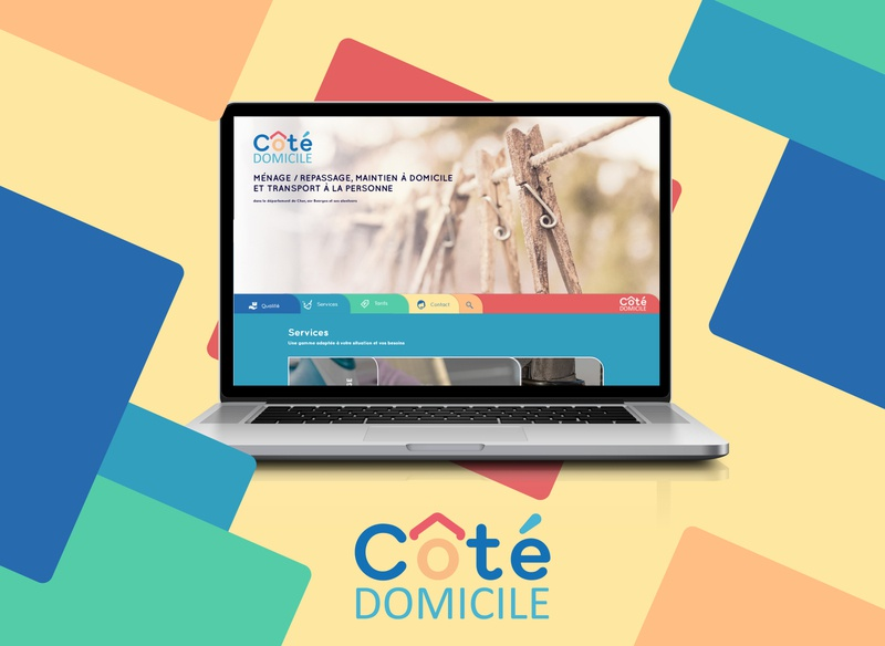 Côté domicile ui  ux design template design typography vector logo webdesign ui branding design visual  identity