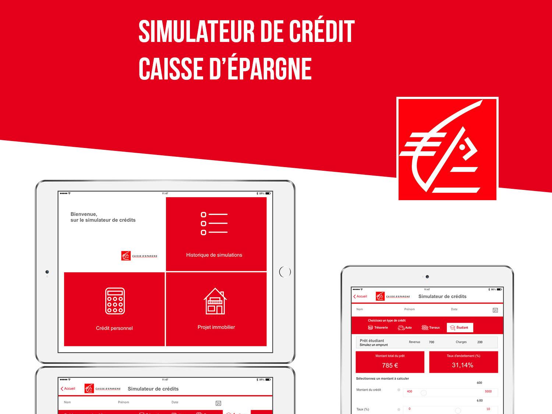 credit simulator for the banck Caisse d'épargne design webdesign ui