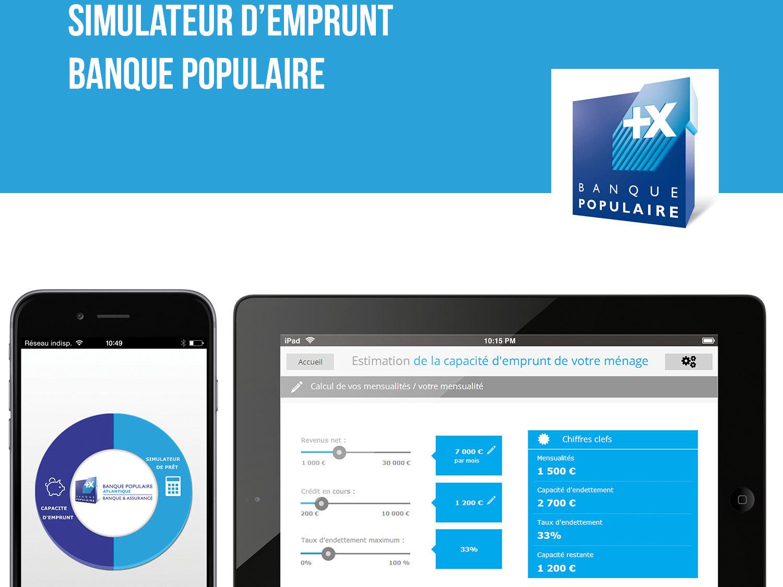 Simulateur d'emprunt for the banck : banque populaire design webdesign ui