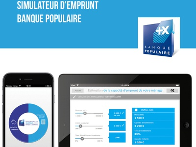 Simulateur d'emprunt for the banck : banque populaire