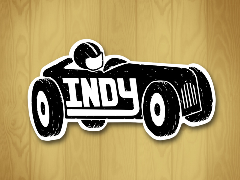 Indy Car Sticker indy car car race car indianapolis indiana indy stickers sticker