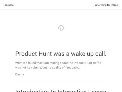 Simple Blog blog simple clean minimal precursor prototyping