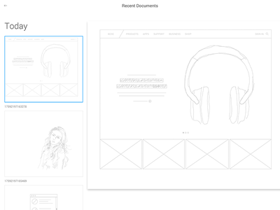 Bose Wireframe Exercise bose redesign minimal product design wireframe