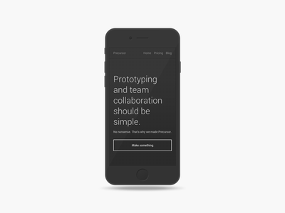 Minimal Mobile Mockup minimal mobile mockup prototyping app lightweight iphone template landing page